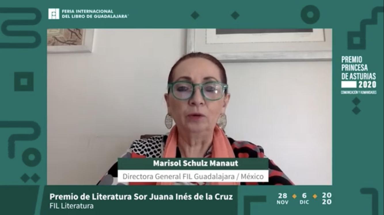 Recibe la argentina el Premio Sor Juana Inés de la Cruz 2020, en la FIL virtual