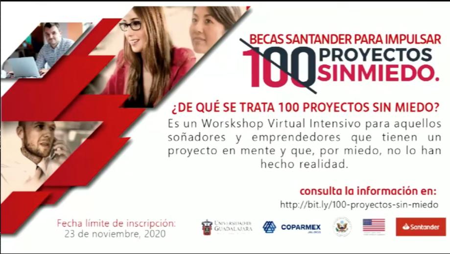 """Dan a conocer la convocatoria para la iniciativa """"100 proyectos sin miedo"""", que concluye el próximo 23 de noviembre"""