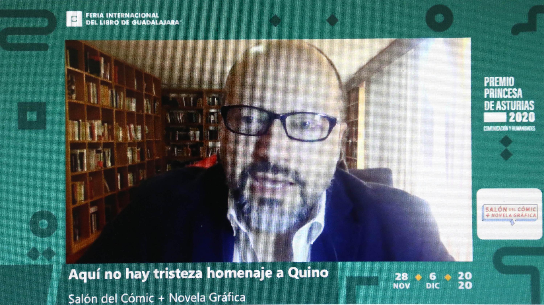Caricaturistas rememoran vida y obra de Joaquín Salvador Lavado, en Salón del Cómic de la FIL 34