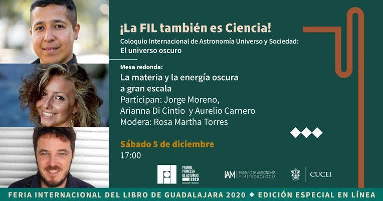 Será transmitido, el próximo 5 de diciembre, en las redes sociales del Instituto de Astronomía y Meteorología, CUCEI y FIL Guadalajara
