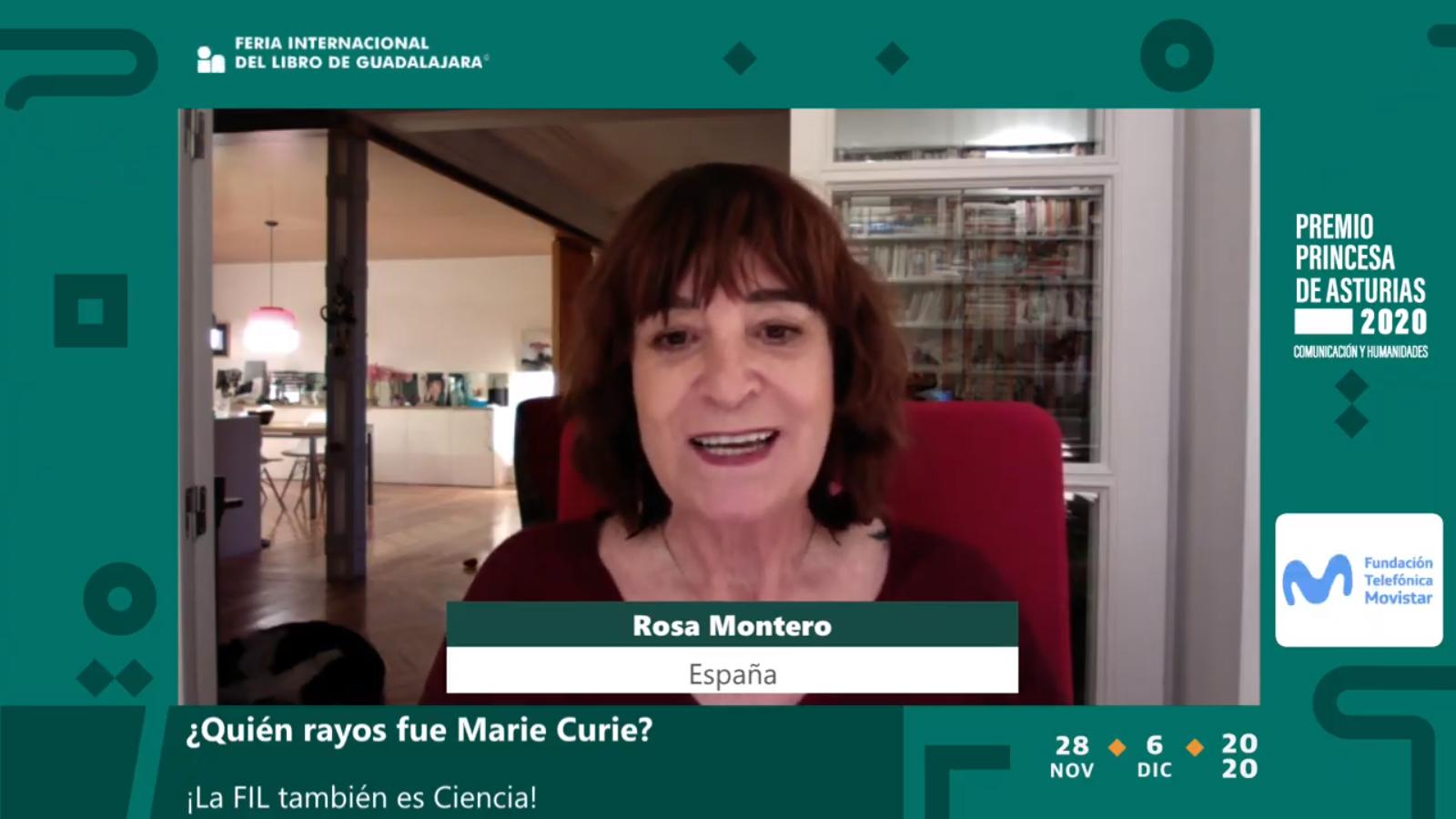 """La escritora Rosa Montero abunda en la vida de la primera mujer Premio Nobel, en el marco de """"¡La FIL también es Ciencia!"""""""