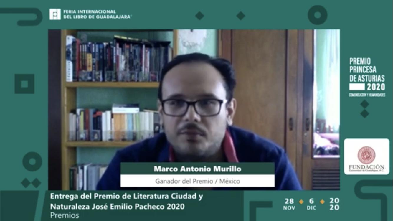 En la FIL, el poeta yucateco recibe el Premio de Literatura Ciudad y Naturaleza José Emilio Pacheco, dotado con 10 mil dólares