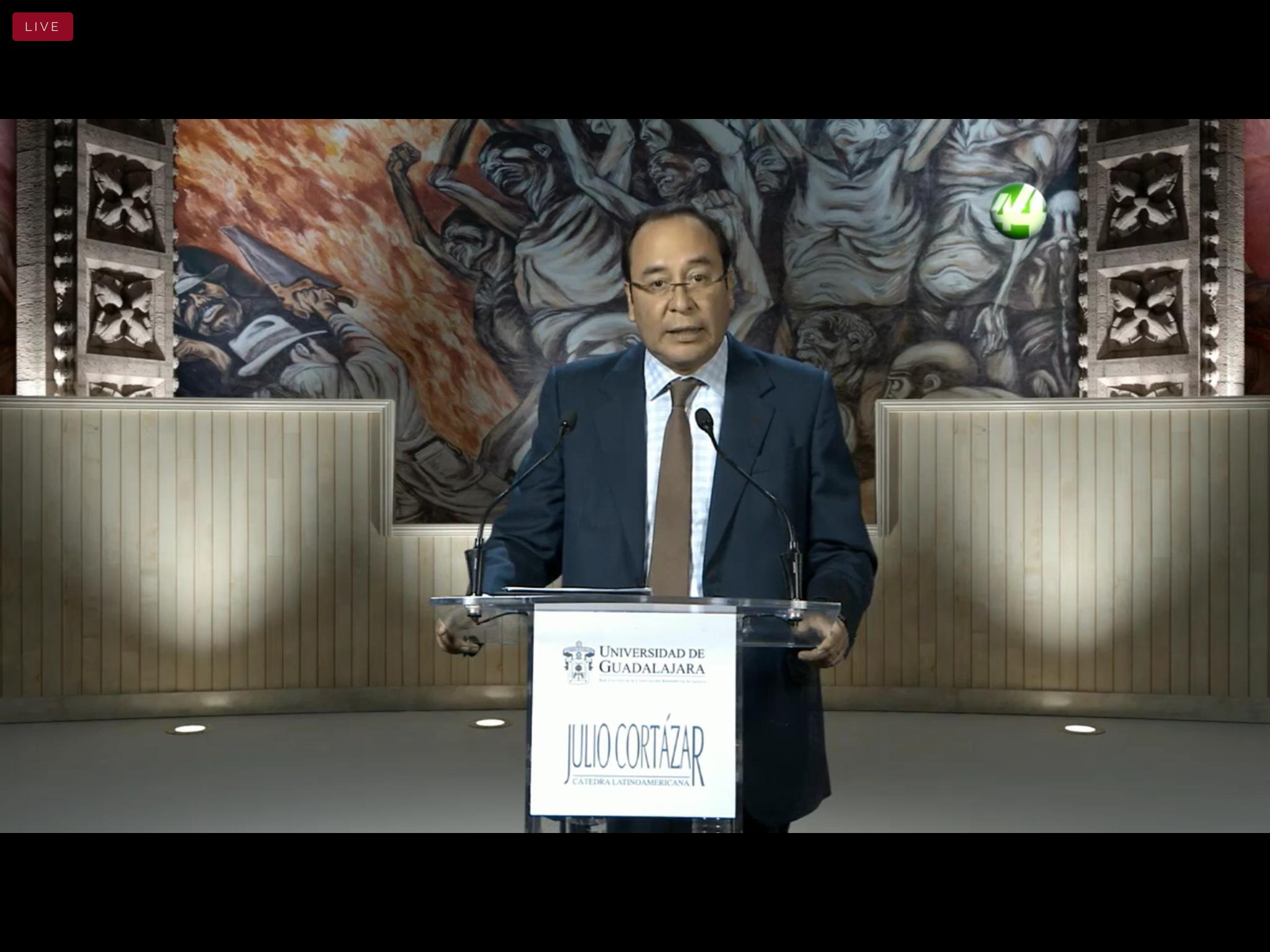 """Brinda la conferencia magistral """"2021: las garantías de una elección confiable"""", en el marco de la Cátedra Latinoamericana Julio Cortázar"""