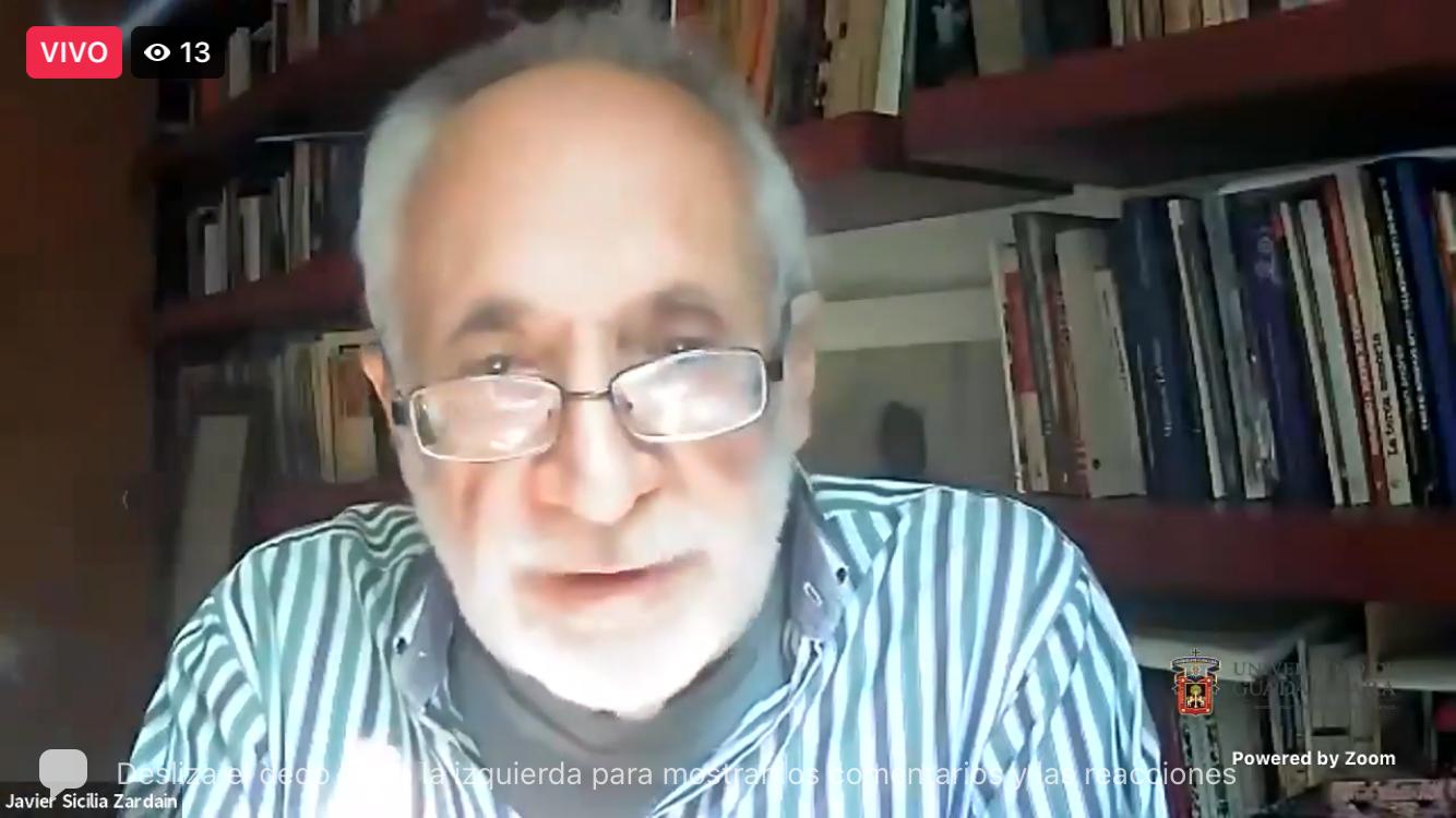 """Javier Sicilia dio la cuarta y última charla en el marco del ciclo """"Cuatro acercamientos a la oscuridad"""", organizado por el CUCSH"""