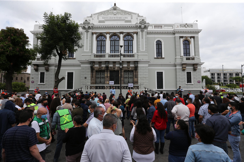 En la Red Universitaria tomaron parte alrededor de 16 mil 300 trabajadores administrativos, con un tiempo de desalojo de entre 50 segundos y dos minutos