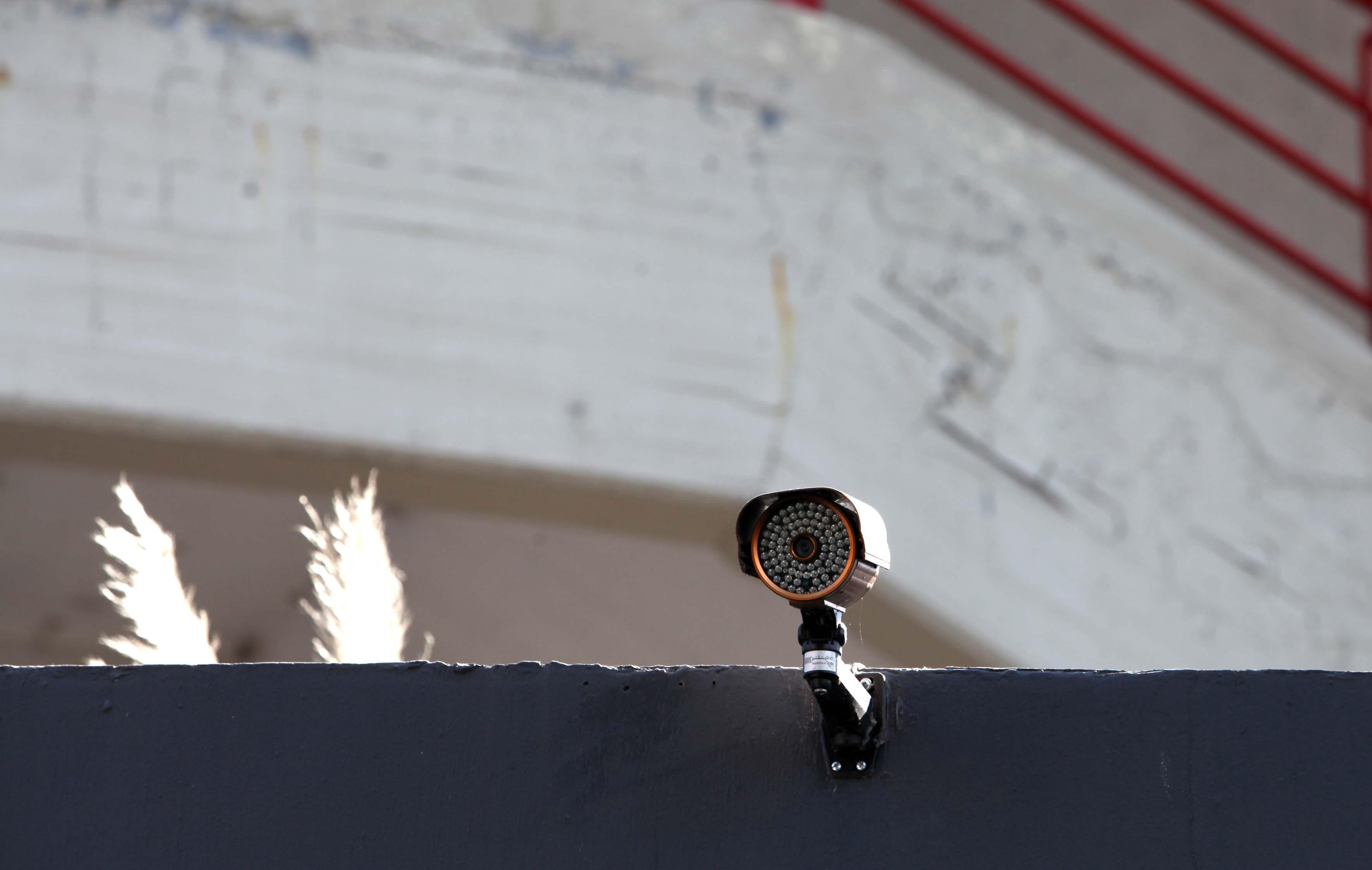 Cámara de vigilancia con iluminación de led