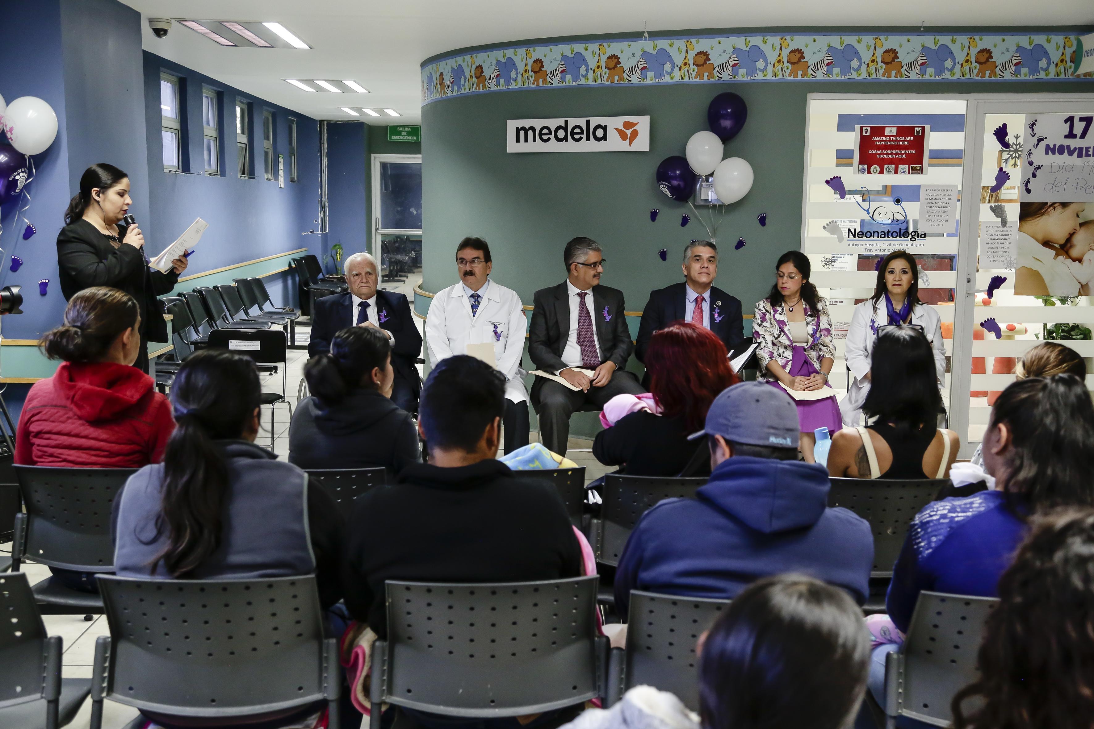 Ceremonia inaugural de actividades por el Día Mundial del Prematuro.