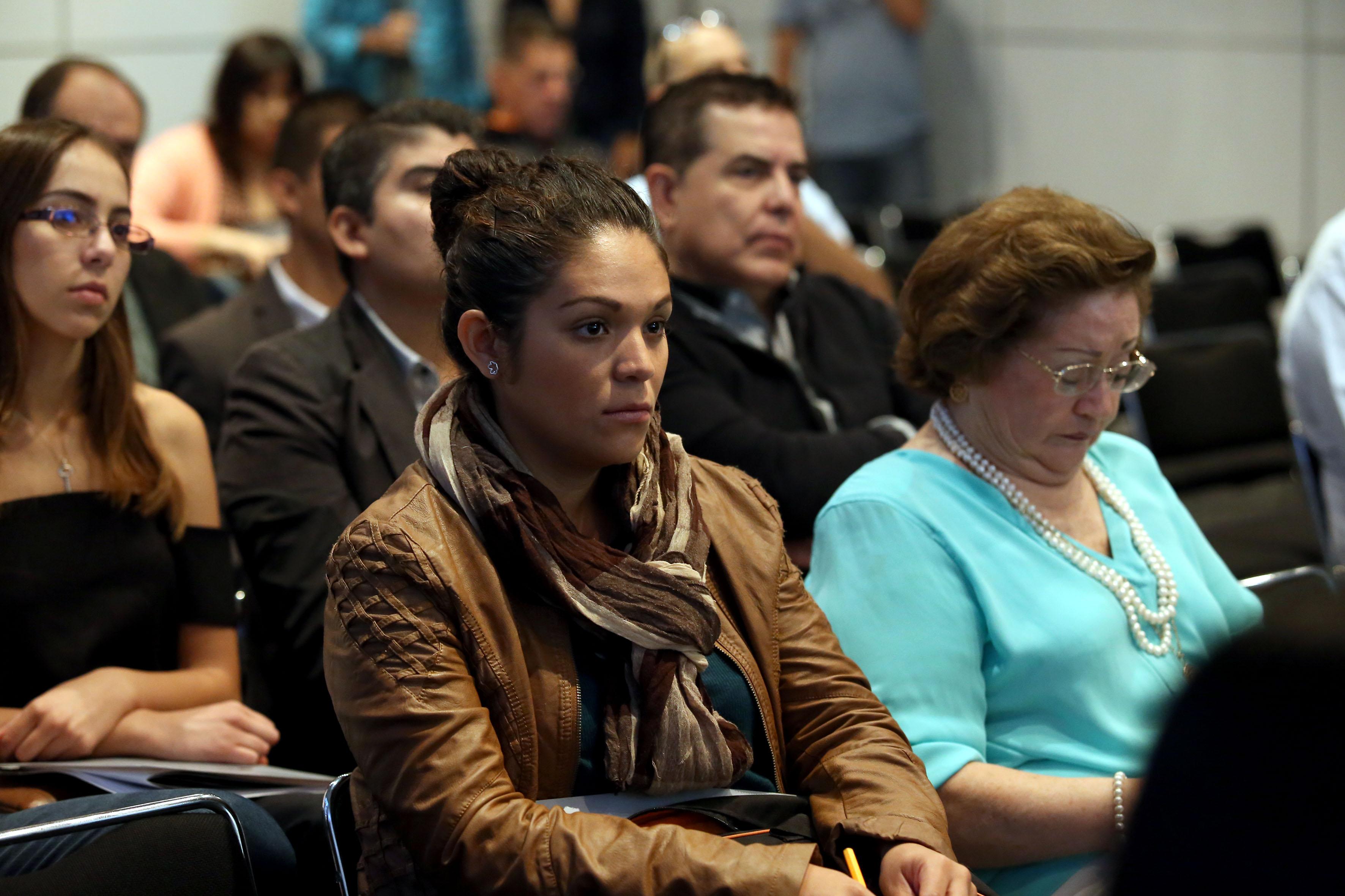 Publico asistente al  Encuentro Empresarial Hispanoamericano en  CUCEA