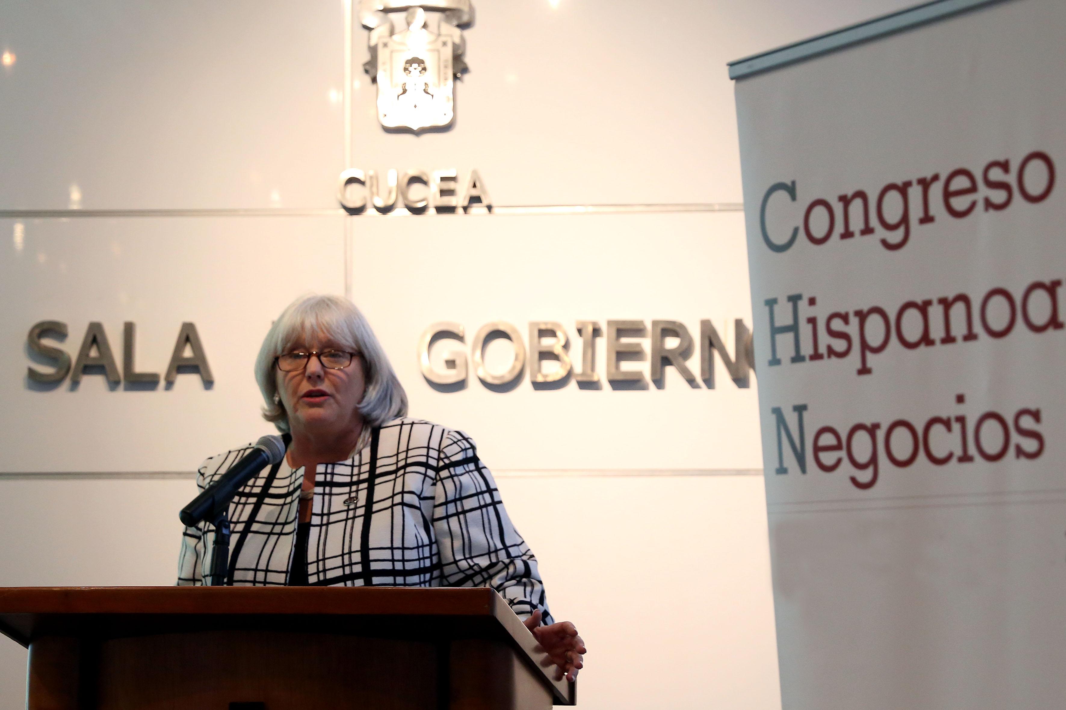 María Victoria Valencia, presidenta y fundadora del Congreso Hispanoamericano de Negocios.