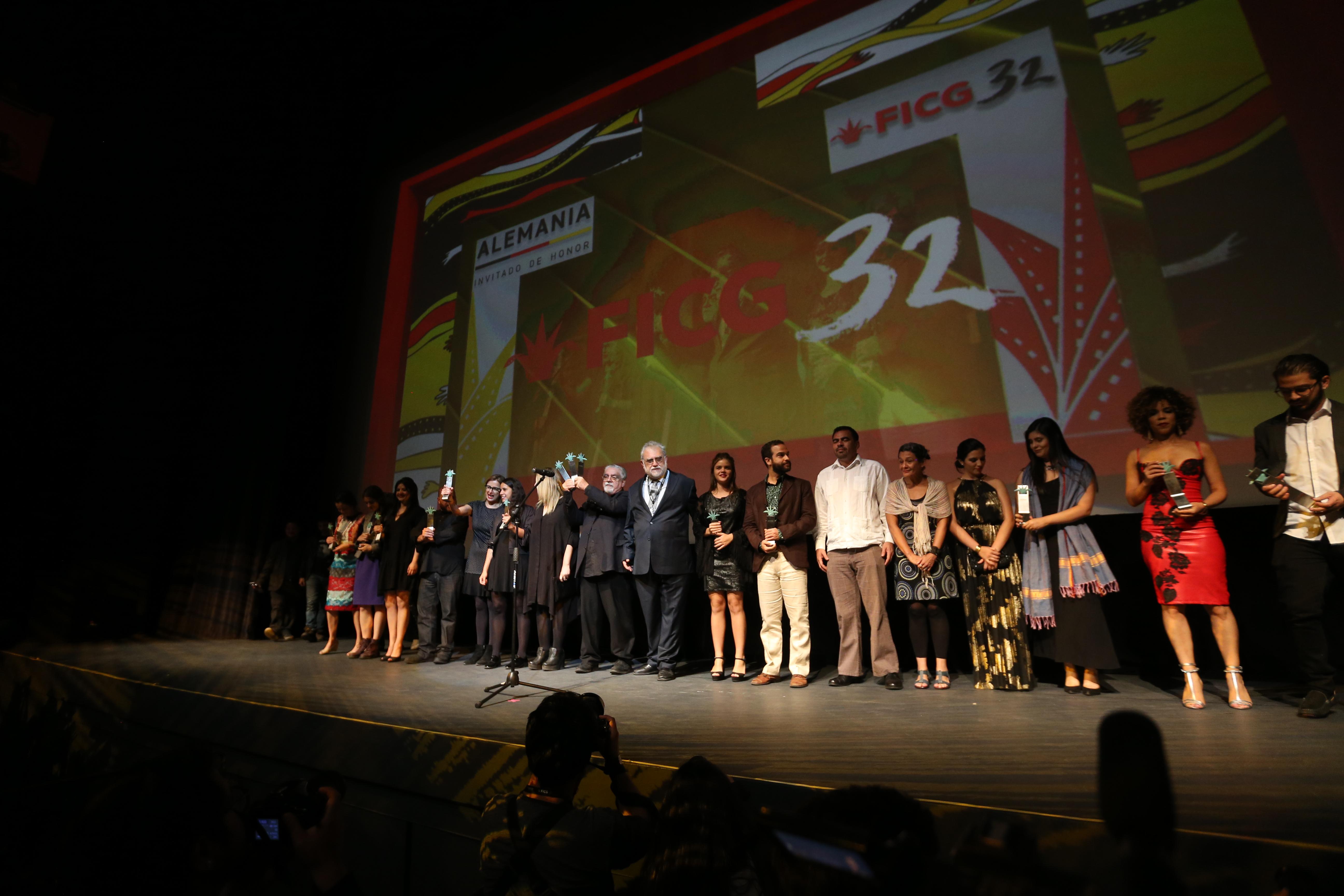 Ceremonia de premiación de las mejores películas y documentales, en el marco del Festival Internacional de Cine de Guadalajara (FICG).