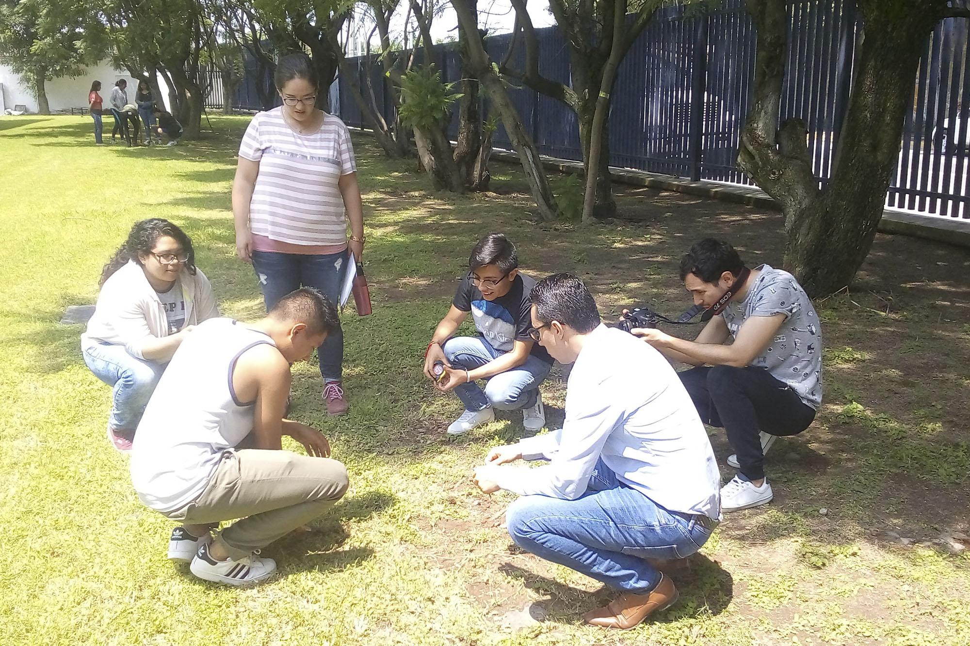 Estudiantes de la Escuela Preparatoria No. 15 de la Universidad de Guadalajara.