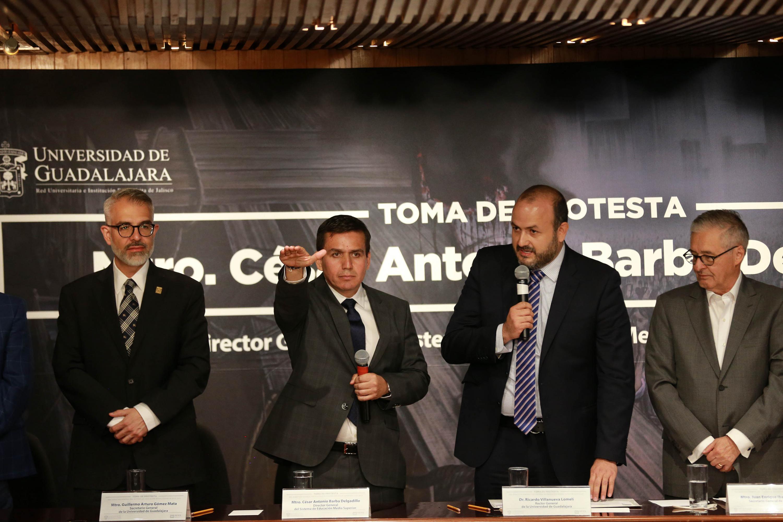 Maestro César Antonio Barba Delgadillo, tomando protesta como nuevo Director General del Sistema de Educación Media Superior (SEMS)