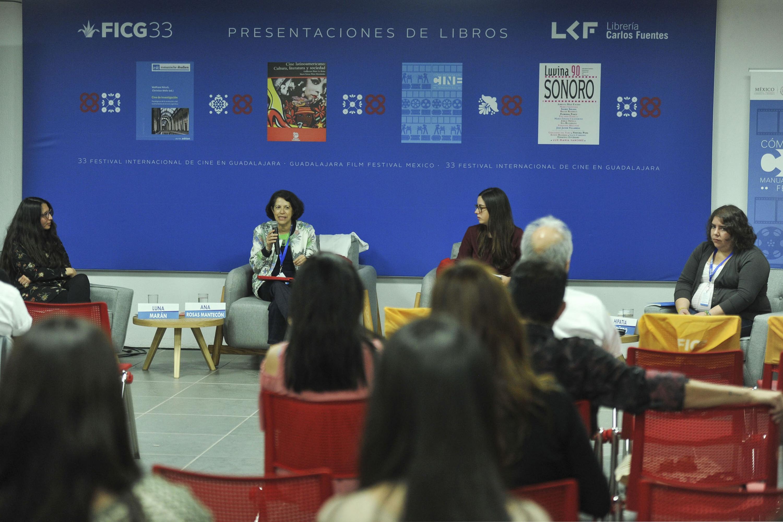 Ana Rosas Mantecón, doctora en Antropología, haciendo uso de la palabra.
