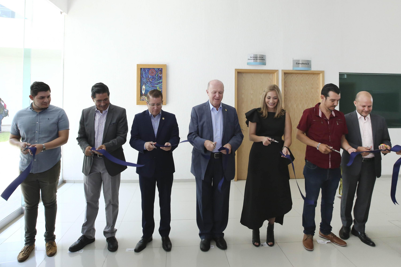 Autoridades universitarias en la Inauguración de la oficina de la Defensoría de los Derechos Universitarios en CUValles