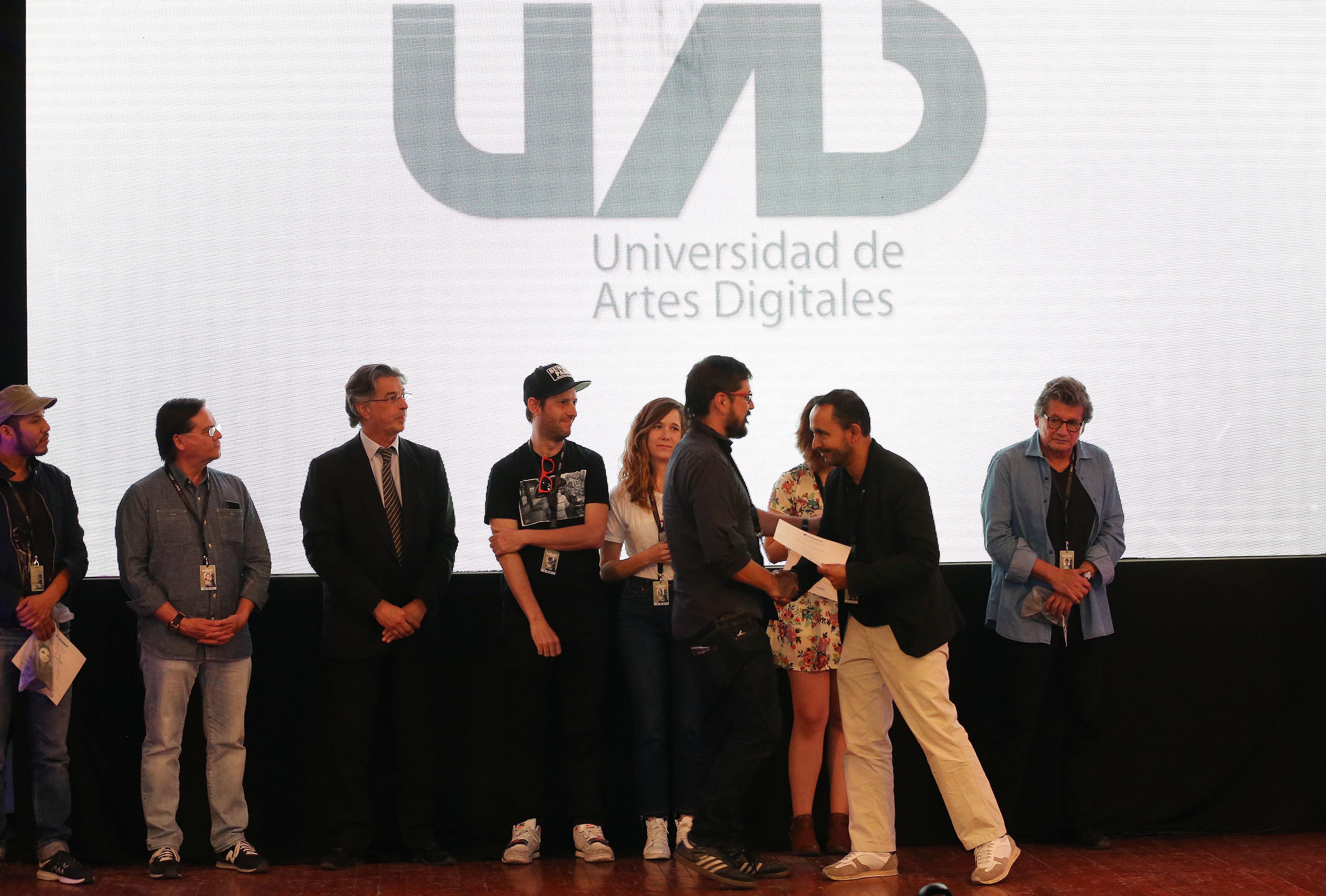 """Ceremonia de premiación de la novena edición de """"Doculab GDL"""", en el marco del Festival Internacional de Cine en Guadalajara (FICG 32)."""