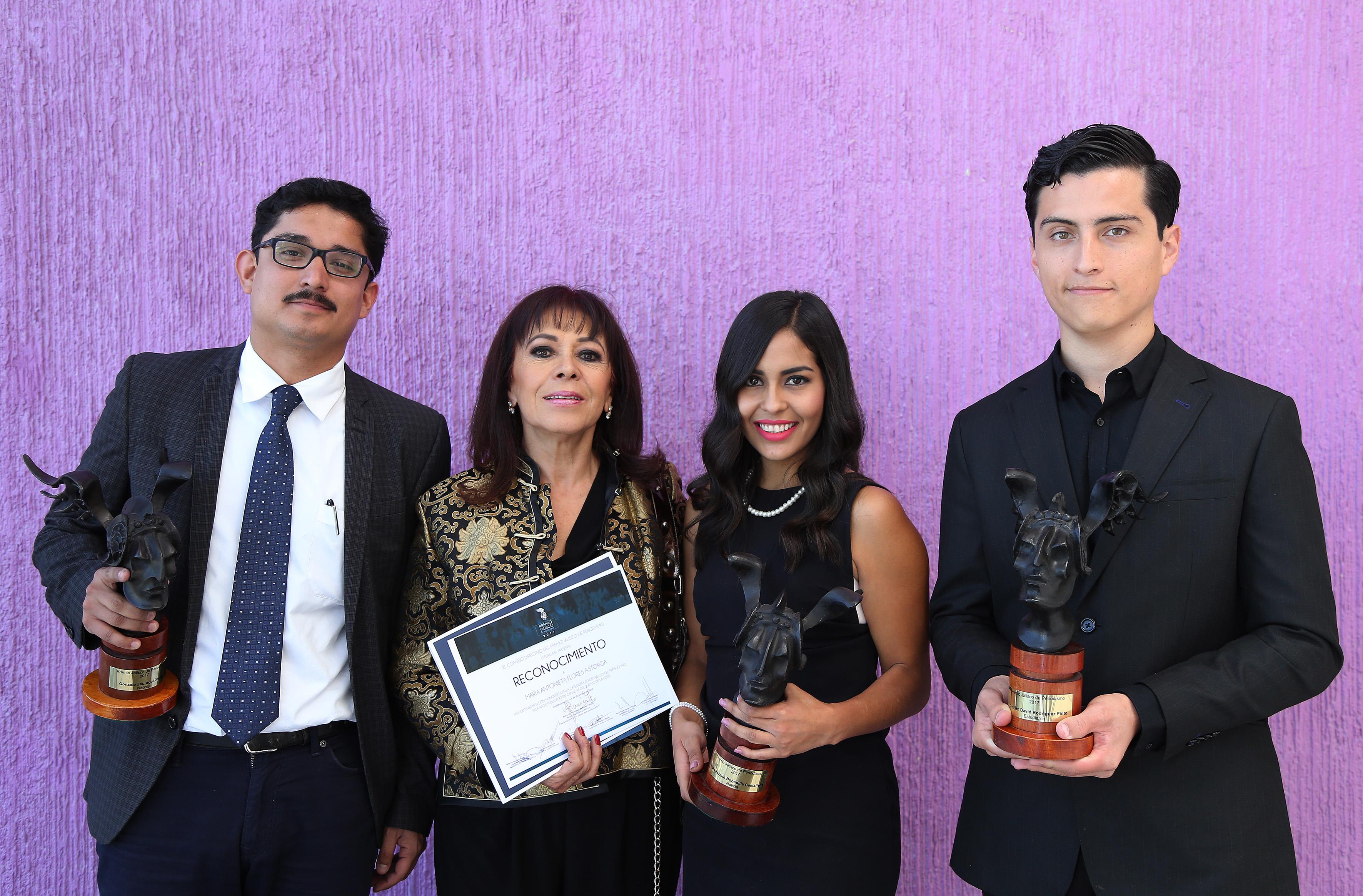 Ganadores del Premio Jalisco de Periodismo 2017.