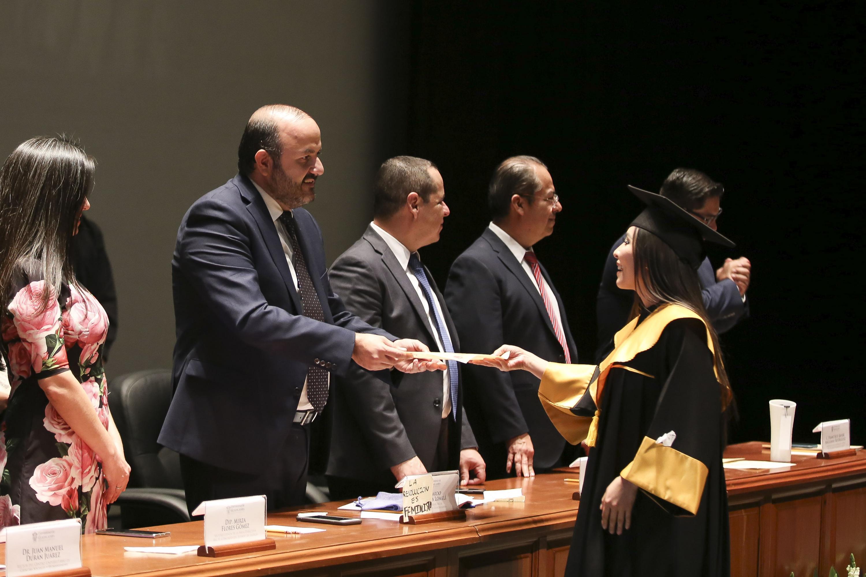En el acto académico en el Telmex