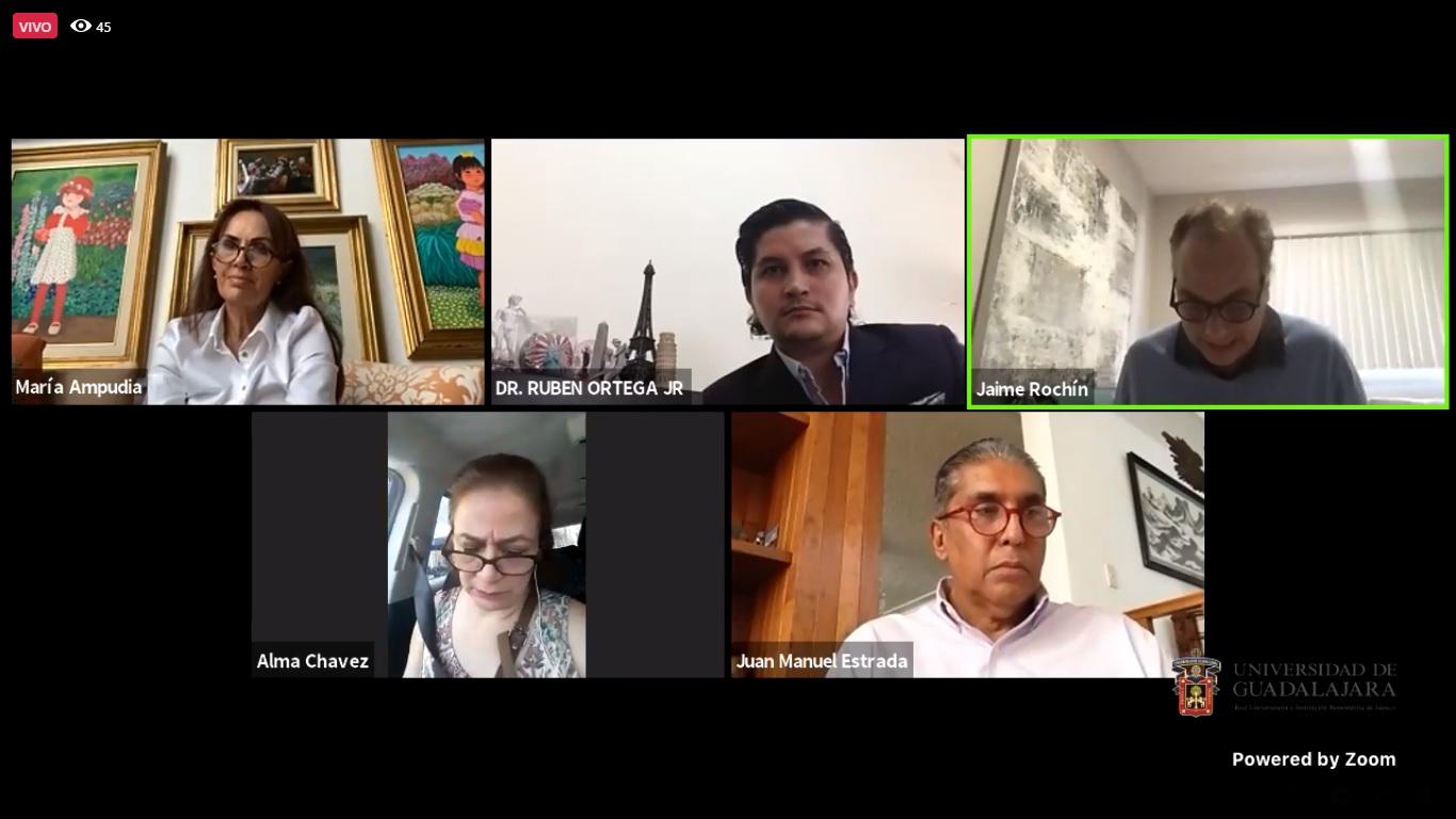 Participantes del webinar organizado por la Defensoría de los Derechos Universitarios