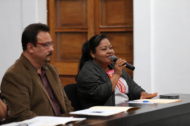 Habla Angélica García Cortés, de origen mixteco y una de las integrantes del Colectivo Pueblos y Comunidades Indígenas