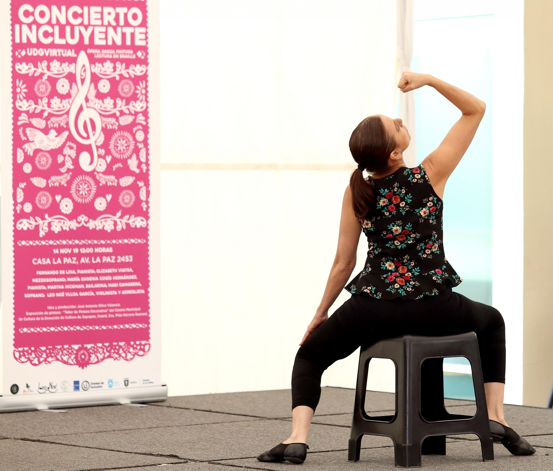 La bailarina Martha Hickman en su participación