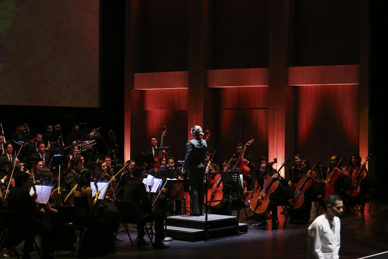 La Orquesta Sinfónica durante el concierto en el Festival Metropolitano