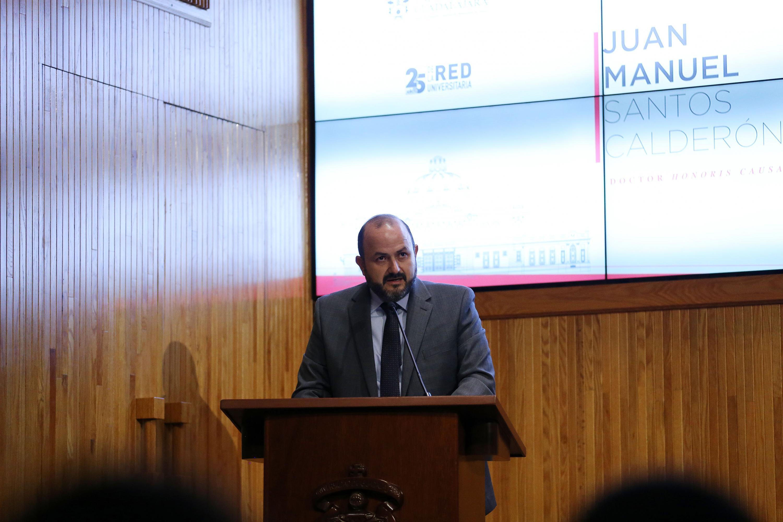 En su mensaje, el Rector General de la UdeG, doctor Ricardo Villanueva
