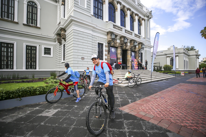 Ciclistas en el Musa, en el Rally Metropolitano