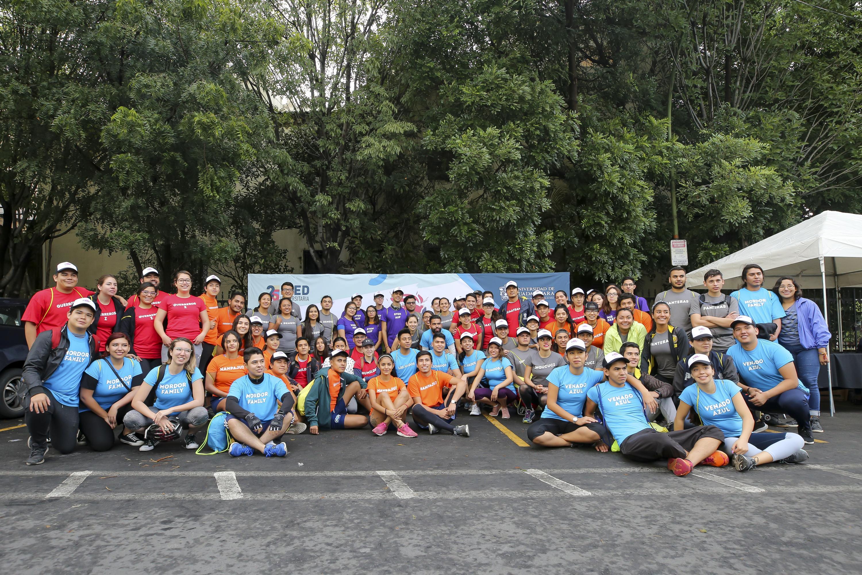 Los participantes del Rally y festival deportivo