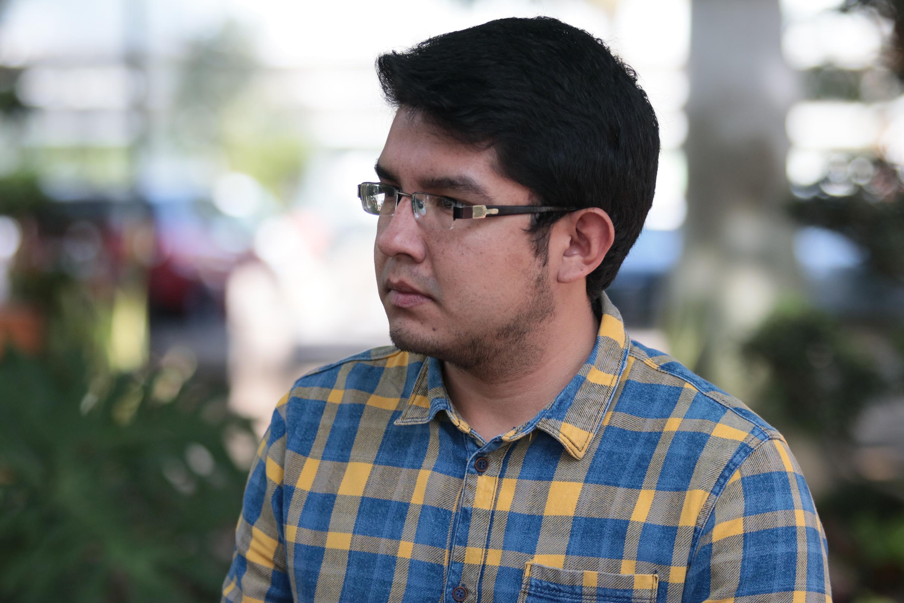 Marlon Nuño, quien es egresado de la licenciatura en Ingeniería Informática de CUCEI