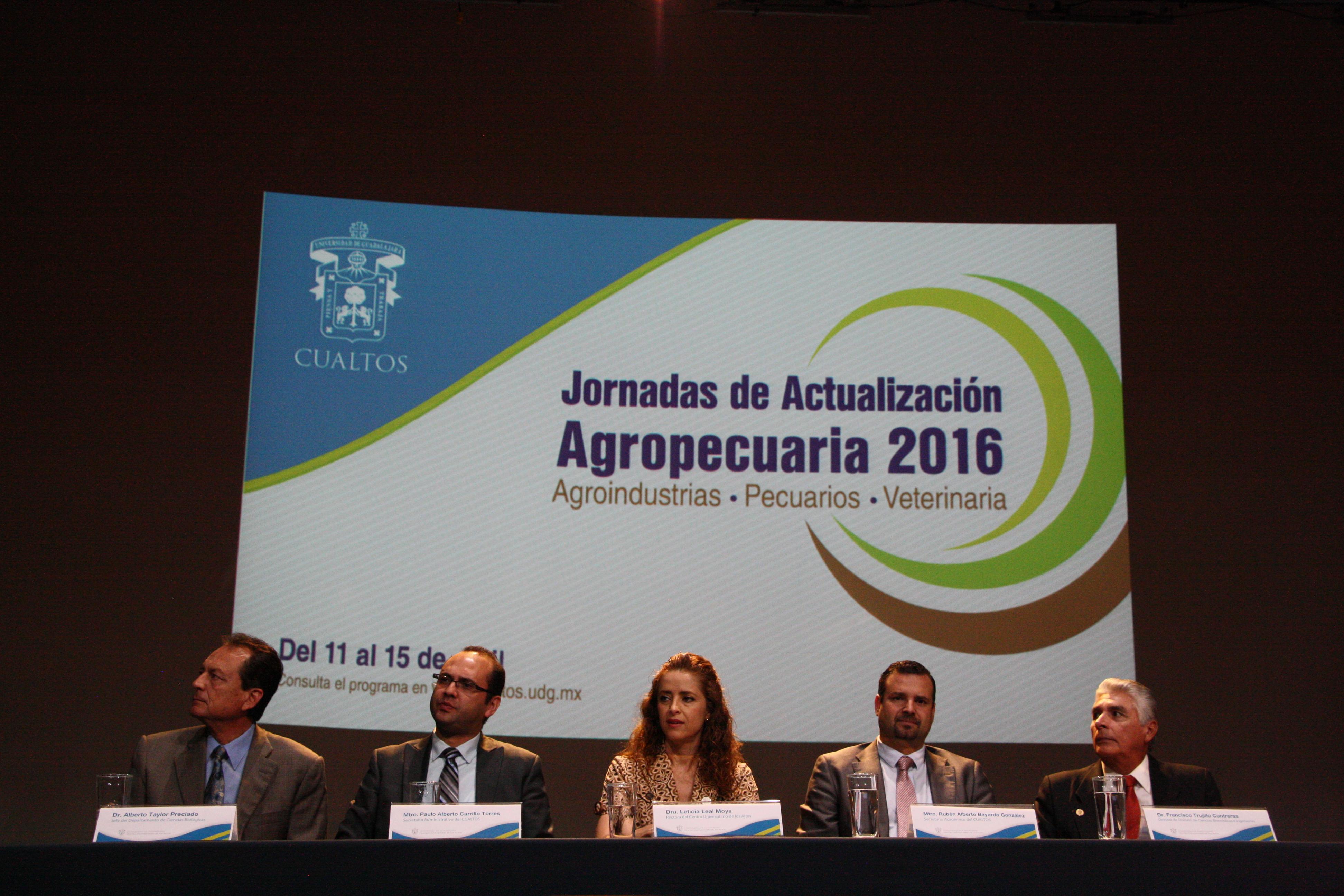 Participantes a la Jornadas de Actualización Agropecuaria en CUAltos.