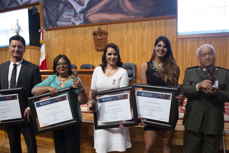 Las cinco personas que fueron reconocidas con la presea Irene Robledo García 2018