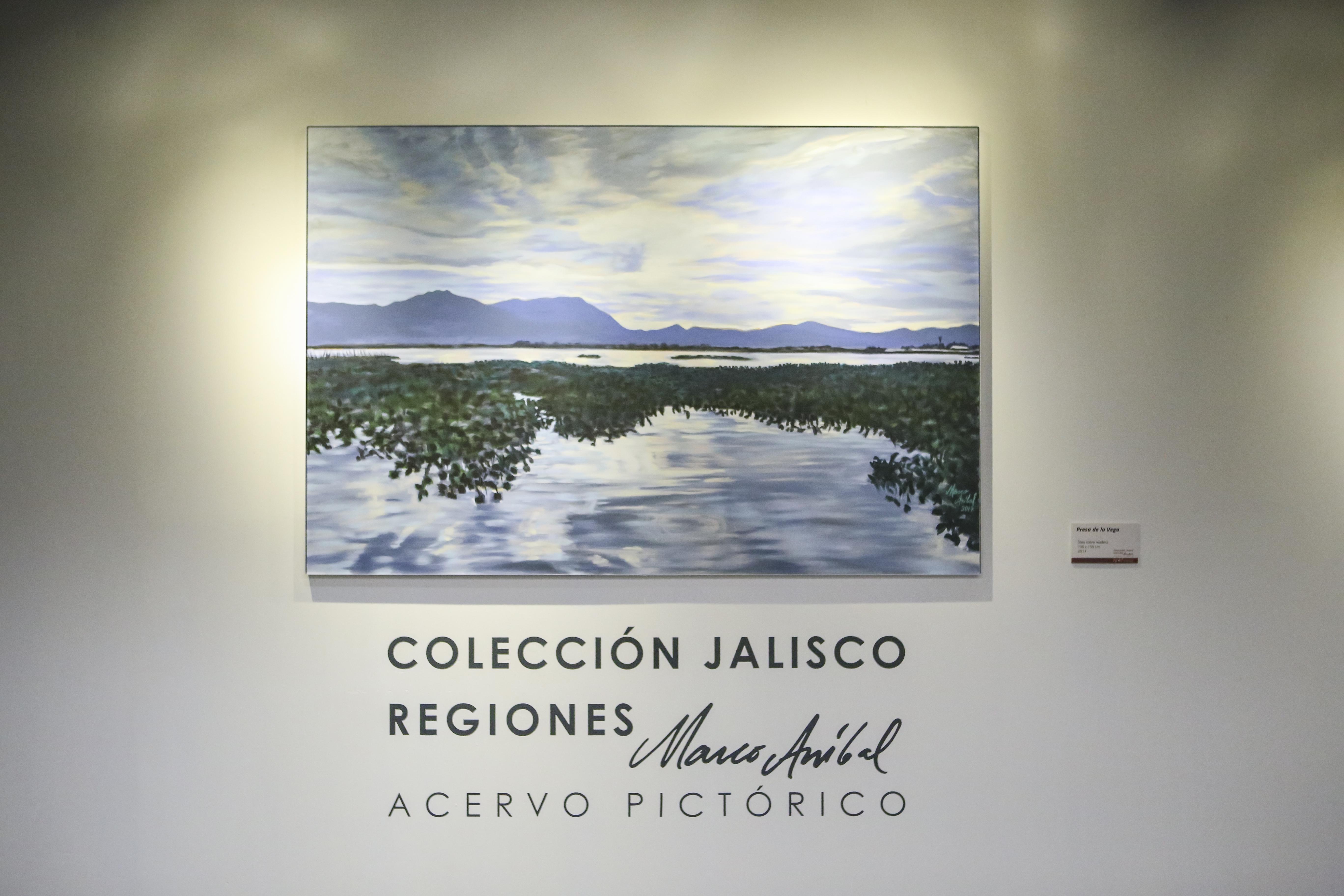 """Portada de exposición pictórica """"Colección Jalisco regiones"""", por el artista tapatío Marco Aníbal."""
