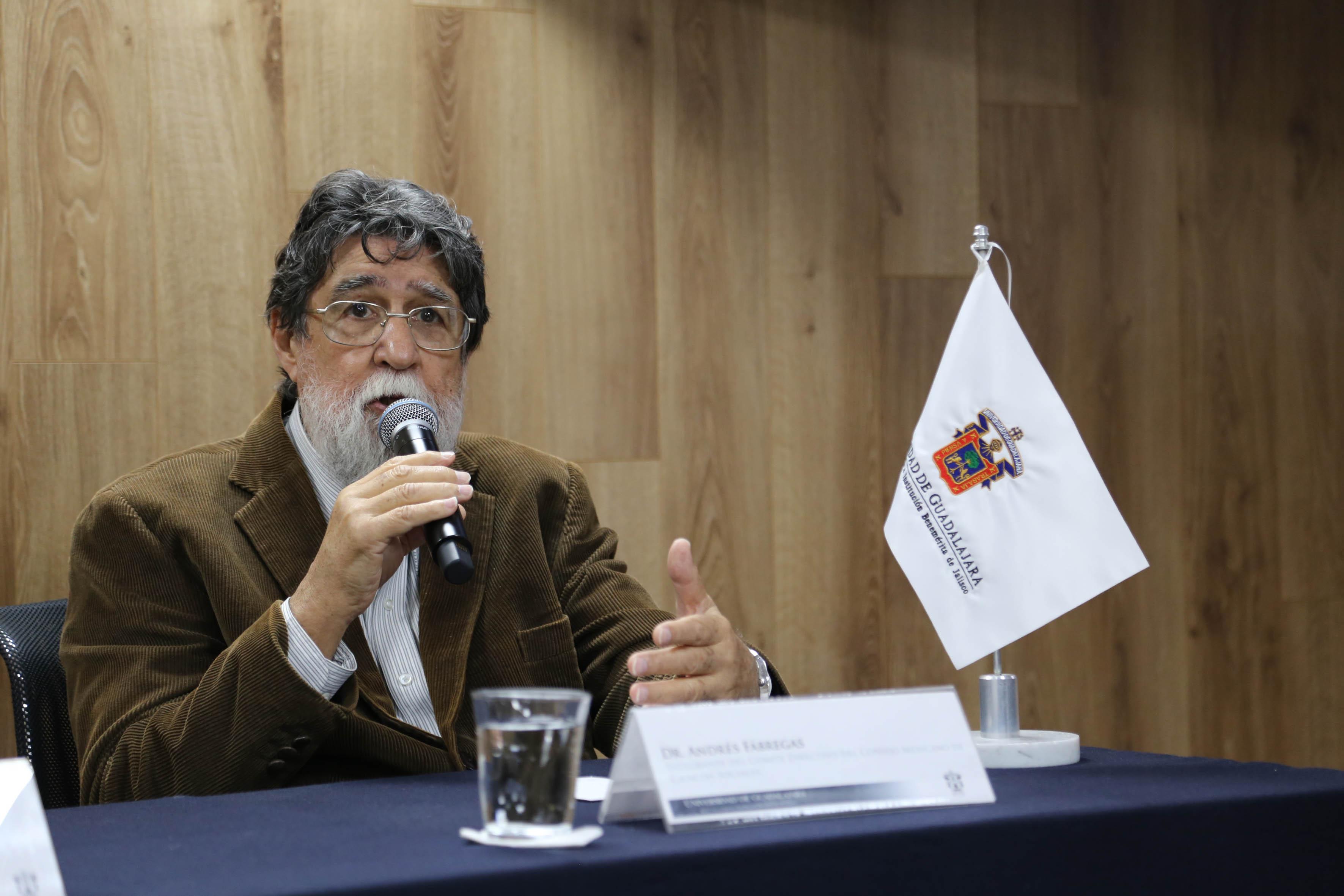 Dr. Andrés Fábregas, integrante del Comité directivo del Consejo Mexicano de Ciencias Sociales y director del Ciesas Occidente