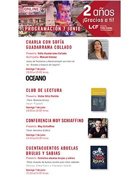 2° Aniversario de la Librería Carlos Fuentes y programación del mes de junio