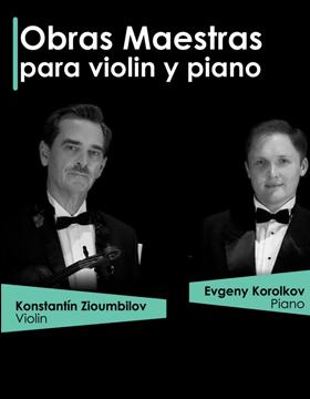 Identidad gráfica para promocionar el concierto Obras maestras para violín y piano