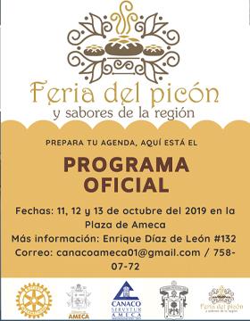 Cartel para anunciar la Feria del picón y sabores de la región