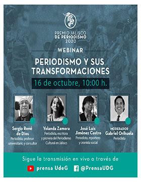 Webinar: Periodismo y sus transformaciones