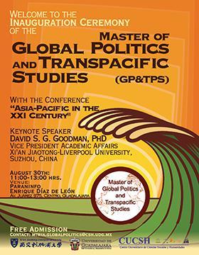 Cartel informativo sobre Conference: Asia-Pacific in the XXI Century, el 30 de agosto en el Paraninfo Enrique Díaz de León