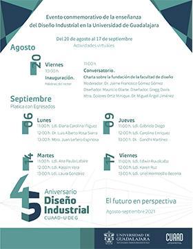 """45 Aniversario de la Licenciatura en Diseño Industrial """"Futuro en perspectiva"""""""