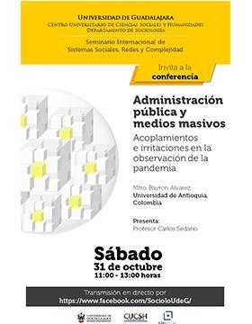 Conferencia: Administración pública y medios masivos