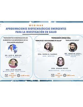 Webinar: Aproximaciones biotecnológicas emergentes para la investigación en salud