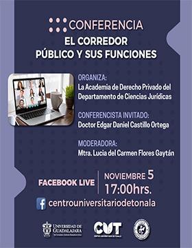 Conferencia: El corredor público y sus funciones