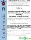 Cartel con texto de la conferencia, del ponente e información general