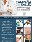 Cartel con texto y recuadros de distintas pruebas medicas