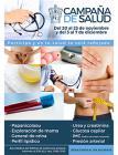 Cartel informativo sobre la Campaña de salud, Del 20 al 23 de noviembre y del 3 al 7 de diciembre, de 8:00 a 10:00 h. en el Área Médica del Edificio de Rectoría General