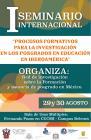 Cartel con texto del evento Procesos formativos para la investigación en los posgrados en educación en Iberoamérica