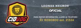 Cartel promocional de los Centros de Iniciación Deportiva Leones Negros de Fútbol