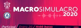 Macrosimulacro 2020 a llevarse a cabo el 20 de enero a las 11:00 en la Red Universitaria.