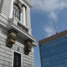 Vista de los edificios de Rectoría
