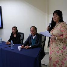 Presentación de los investigadores a impartir la charla con motivo del Día Internacional del Hombre.